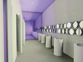 Toalettløsninger i offentlige miljø - til restauranter og hoteller. Det er trendy og nyskapende. (Simas)