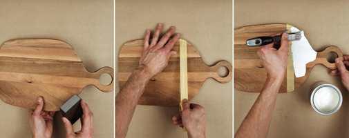 <b>FORT:</b> Det er enkelt og raskt å male skjærebrettet.