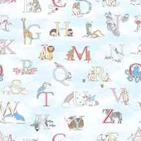 <b>BOKSTAVER:</b> «M» og apekatt? Nei, det stemmer ikke. «M» står for monkey. På dette tapetet med bokstaver og dyr blir det også litt engelskundervisning. Tapetet Just 4 kids er fra Fantasi Interiør.