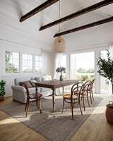 GAMMELT MØTER NYTT – sånn innreder vi gjerne huset ved sjøen. Gulvet heter Starfloor Click Ultimate Weathered Oak Natural, og gir en genuin base til akkurat den stilen.