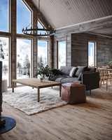 DEMPENDE VINYL: Starfloor Click Ultimate Weathered Oak Brown fra Tarkett ser ut som et grovt gulv av tre, og gjør seg fint i den rustikke hytta på fjellet.