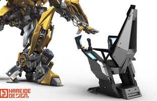 Operatørstolen utviklet hos Hareide Design for Aker Solutions ble plukket opp av Hollywood til Transformers 4.