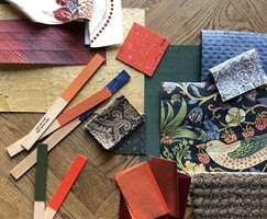 Her er det er det stort rom for å boltre seg med ulike materialer, farger og mønster.