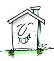 Er grunnmuren våt, er det det samme som at huset går med våte sko. Her er huset derimot fornøyd.