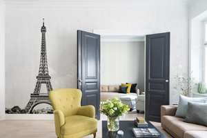Digitalt motiv med Eiffeltårnet.