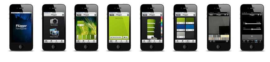Mobilen er ditt nyeste malerverktøy. Flere smarte funksjoner finnes i en applikasjon  fra Flügger.til iPhone.