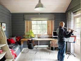 Rommet har fullstendig skiftet karakter, og gode farger får tilført mye naturlig lys på dagtid.