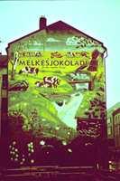 Denne veggen er fra 1997, på Alexander Kiellands plass. Den er nå dessverre skjult av et større nybygg.
