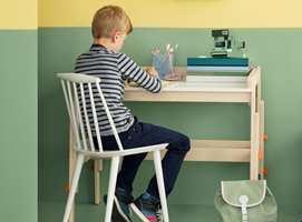 <b>LEKSEPLASS:</b> Når minstemann er skoleklar, gjelder det å få på plass en god plass til leksejobbingen. (Foto: Butinox)