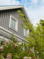 grått hus, farge Betong fra Beckers