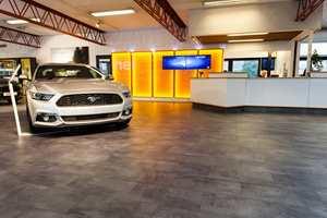 Mustang: Bergerkrysset Auto Mysen er atuorisert for å stille ut og selge Ford Mustang.