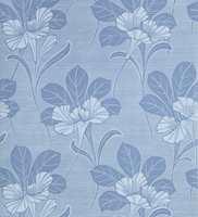 Gammelsvenska 096-03 er et tapet fra Storeys. Blomstene signaliserer ro med den blå fargen.
