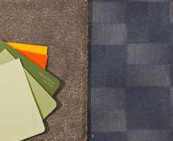 <b>ORANSJE KONTRAST:</b> Det er lite kontrastfarge  som skal til for å kvikke opp den rolige grønne og blå basisen. (Foto: Bjørg Owren/ifi.no)