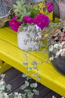 <b>GOD BLANDING:</b> En miks av potter og krukker i forskjellige materialer skaper et hyggelig uttrykk.