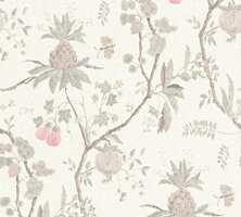 <b>TEKSTIL LOOK:</b> Det har blitt svært populært med tapet som ser ut som tekstil. Dette er fra Storeys og heter Hidden Garden.