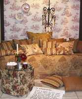 Tapet og tekstiler hører sammen. Her en kolleksjon fra leverandøren Borge.