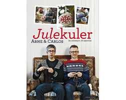 Finn frem strikkegarnet og strikk et par egne kuler til årets juletre oppfordrer Arne & Carlos i boken Julekuler.
