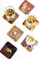 Gjør inntrykk på gjestene med hjemmelagde glassunderlag!