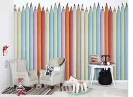 Fargerike blyanter fra Mr Perswall er trendy på barnerommet. Borge er leverandør av produktet.