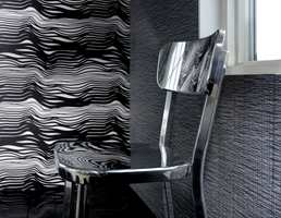 Striper på veggen kan være med å skape en tøff stil og gi rommet karakter. Disse er fra kolleksjonen Eco Design 3 fra Borge.