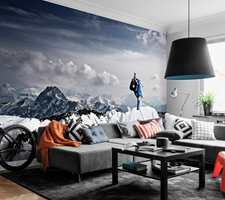 Bli inspirert av vinteraktiviteter, som med dette fototapetet fra Mr Perswall.