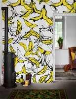 Gule bananer i lange baner, fra Mr Perswall.