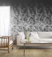 Det er trendy med trær på veggen, og du slipper å koste bort bladene! Eco Wood-kolleksjonen er fra Borge AS