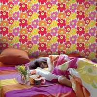 Kolleksjonen av fibertapeter inneholder velkjente Marimekko-design, så vel som nye grafiske mønster.