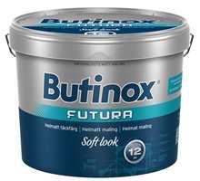 Butinox Futura Soft Look har ingen glansrefleksjoner, og flaten vil alltid fremstå jevn, matt og vakker. Malingen kan brukes på nytt grunnet, tidligere beiset, dekkbeiset eller malt treverk, og på trykkimpregnert, grunnet tre.