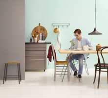 På kjøkkenet bør malingen være litt ekstra vaskbar.