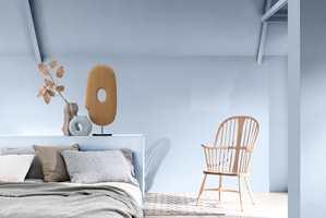Bright Skies sammen med paletten Salon fra Colour Futures 2022, Nordsjö.
