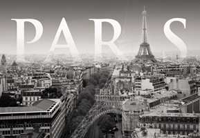 Hvorfor ikke la byen Paris pryde veggene? Tapetet heter, Cite de Paris.