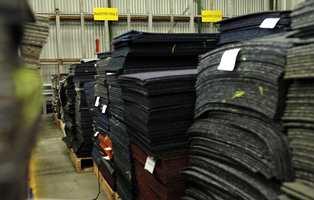 30 millioner kvadratmeter med teppefliser skiftes ut hvert år bare i Europa.