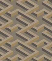 <b>GEOMETRISK:</b> Tapetet Geometric II i gylne brune nyanser er en av favorittene til Birgit Torkildsby i Borge.