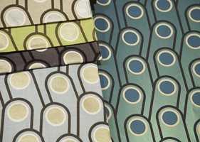 Tapet og tekstil: Natasha Marshall designer matchende tapeter og tekstiler. Intag.