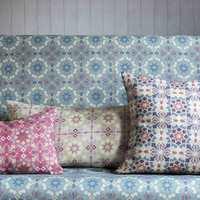 <b>MØNSTER:</b> Tekstil med mønster er et fint hjelpemiddel til å understreke en stil. Tekstilene fra Lewis&Wood føres av Green Apple. (Foto: Green Apple)