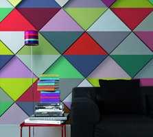 Domino malt i mange farger.