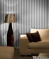 Klassiske striper trenger slett ikke være kjedelig på veggen. Denne Borge-kolleksjonen bygger på mønstre fra moteskaperen Vivienne Westwoods motekolleksjoner.