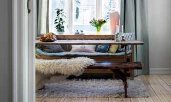 LANG LUV: Ullteppet gir en varm og god opplevelse når man sitter lenge.