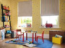 Gult kommer tilbake som farge på veggen til gutta. (Foto: Nordsjö)