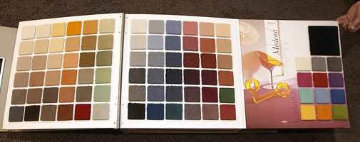 En ny kolleksjon fra Vorwerk som viser det store fargespekteret.