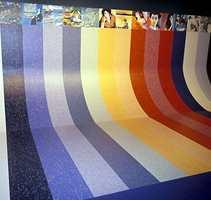 Linoleum kan i dag være et fargerikt skue - som her fra Forbos kolleksjon Artoleum.