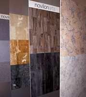 Stadig utvikling innenfor vinylgulv. Mønster- og designvalget utvides - som her med de rustikke treimitasjoner i midten i Forbo-kolleksjonen Novilon Arta.