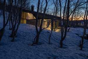 Vakker natur rundt hytta