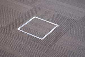Ved installasjonsgulv er teppefliser å foredra, siden det er enkelt å gjøre luker som kan åpnes i gulvet. Stripene i Barcode-teppene skal minne om linjene i strekkoder. Kolleksjonen består av 12 ulike kombinasjoner av bakgrunns- og stripefarge, men til Storebrands kontorer ble det laget en egen fargekombinasjon.
