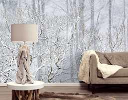 Eijffinger har flotte tapeter som gir den rette vinterfølelsen.