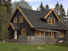 Huset før maling.
