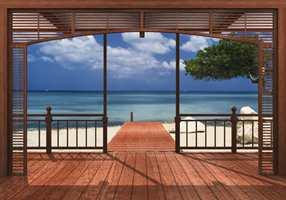 Tapetet El Paradiso gir deg følelsen av å ha en privat strand i stuen.