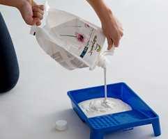 Fremtidens malingemballasje er en plastpose. Beckers har tatt frem en ny type beholder som rommer 3 liter maling, og er enkel å bære og tømme.