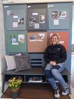 <b>LOKALE HELTER:</b> Fargeekspert Marlyn Solvang har satt farge på tettstedene rundt i Bærum.